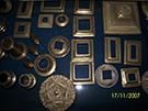 ferforje birlesiminde kullanilan rozetler teknik metal kod: TKR-08